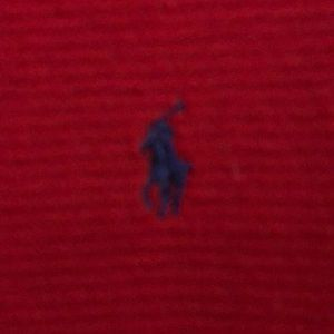 polo red sleep shirt.  Looks good with jeans also
